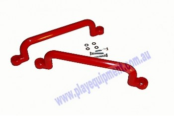 Long Plastic Handle Grips RED