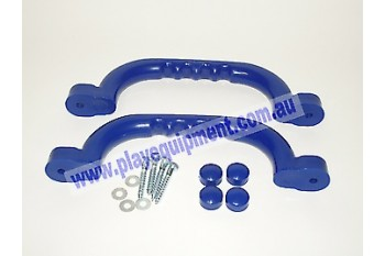 Short Plastic Handle Grips BLUE