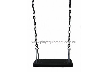 Medium Safety Seat Commercial With Green Heavy Duty Plastic Coated Chains