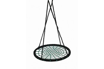 Nest Swing large Round BLACK/GREEN With Adjustable Ropes (sensory swing)