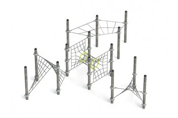 Commercial Playground Equipment KBT Armed Rope Structure Climbing Net ALASHA