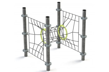 Commercial Playground Equipment KBT Armed Rope Structure Climbing Net TUNNEL