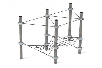 Commercial Playground Equipment KBT Armed Rope Structure Climbing Net Podium