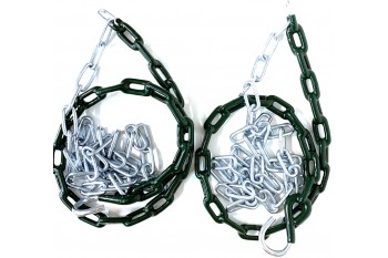 Plastic Coated Chains Pair Green (2pc)