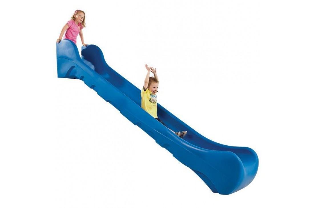 1.25m high standalone Commercial slide 'Bronco' - BLUE