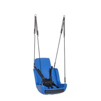Special Needs Adaptive Disability Swing Seat with Ropeset and Safety Harness Blue