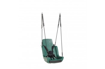 Special Needs Adaptive Disability Swing Seat with Ropeset and Safety Harness Green
