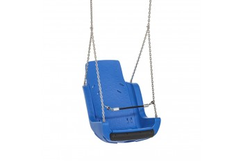 Special Needs Adaptive Disability Swing Seat with Chains and Safety Barrier Blue
