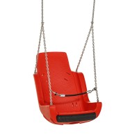 Special Needs Adaptive Disability Swing Seat with Chains and Safety Barrier Red