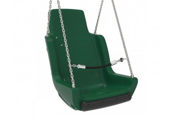 Special Needs Adaptive Disability Swing Seat with Chains and Safety Barrier  Green