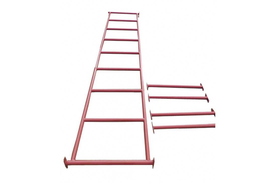 Monkey Bars RED With Step Rails