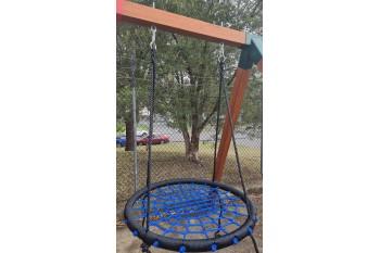 Nest Swing  Round BLACK/BLUE With Ropes (sensory swing)