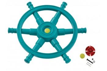 Jumbo Pirate ship Wheel 'star' - turquoise & lime green